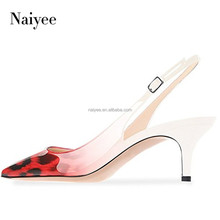 2018 Branded high fashion sling back shoes ladies low heel dress shoes