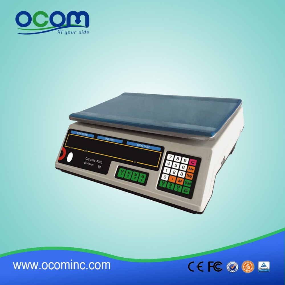 30kg Electronic Digital Price Weighing Scale with LED Display