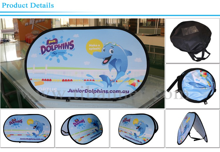 Custom Horizon shape pop up banner stand