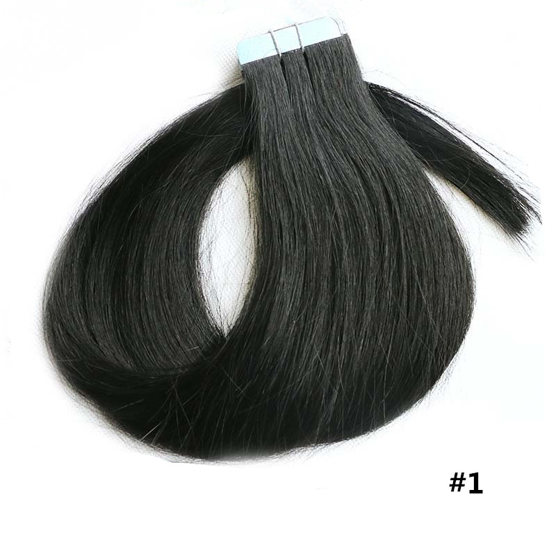 Double Weft Wholesale Qingdao Factory Price Cheap Remy Human Hair Tape Hair Extension Samples Weaves