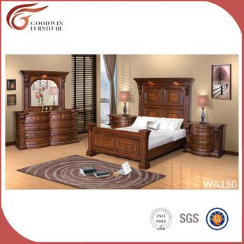 Classic Wooden Simple Bedroom Set/american Queen Size Bed ...