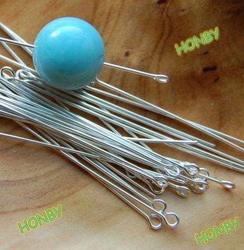 Sharp End Steel Eye Head Pins For Bead Jewelry Making Findings Buy
