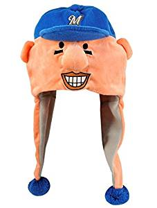 MLB Milwaukee Brewers Thematic Mascot Dangle Hat- Sausage #4, Hot Dog by Forever Collectibles