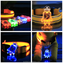 Pet Dog Claw LED Flashing Collar Safety Night Light Pendant & Battery VEC23 P