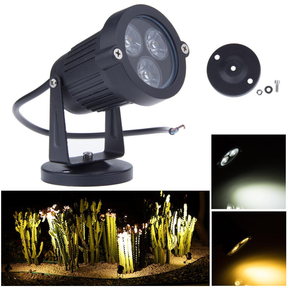 buy 3 3w 12v led garden lights lawn lamps ip65 waterproof outdoor spot flood. Black Bedroom Furniture Sets. Home Design Ideas