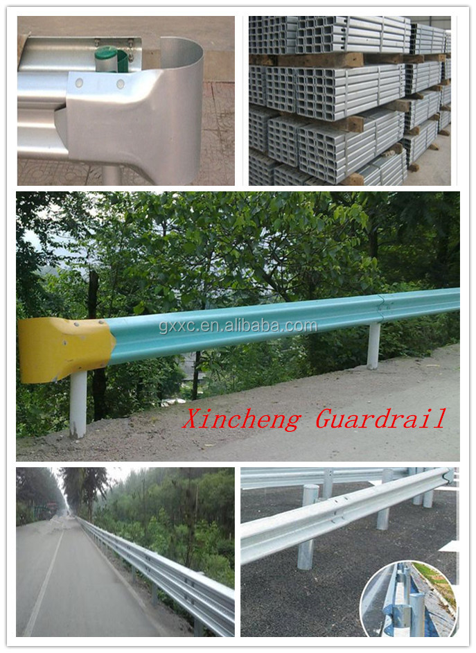 corrugated beam guardrail and post install