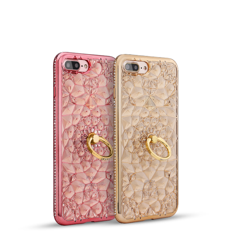 Stand Phone Cover TPU Ultra Thin Crystal Funny Mobile Phone Case for iPhone 7