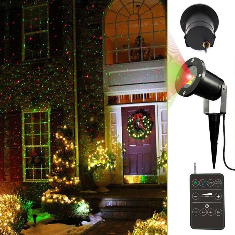 Outdoor Laser Lights Red And Green Outdoor Waterproof Star
