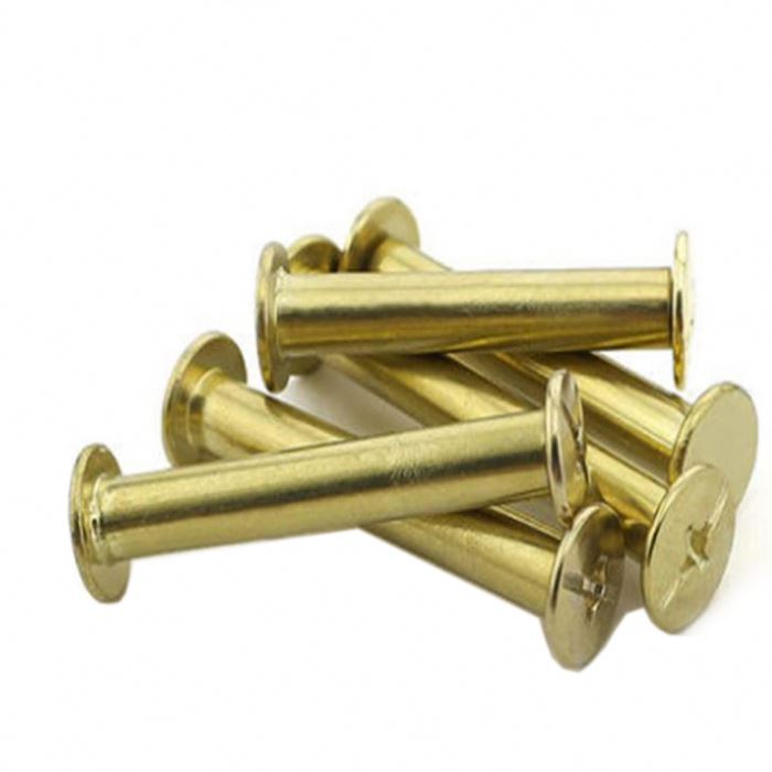CNC machined dome flat head cap brass m6 chicago screws