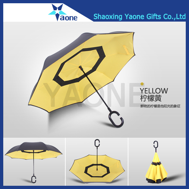Starlight Wizard Hat Mickey Mouse Car Reverse Umbrella With C-Shaped Handle UV Protection Inverted Folding Umbrellas Windproof And Rainproof Double Folding Inverted Umbrella