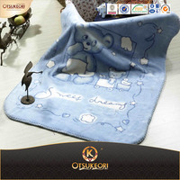 Stock Branded China Anime Printed Baby Boy Blanket