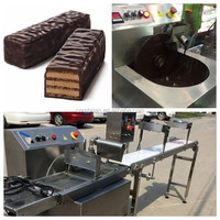 15kg multi-functional cake and donut chocolate enrober machine with CE
