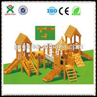 Best indoor wooden slide/childrens wooden playsets/playground monkey bars QX-076C