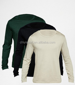 Design Your Own Long Sleeves High Quality Plain T shirt