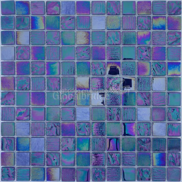 blue mosaic&blue glass mosaic&dark blue crystal glass mosaic for outdoor swimming pool