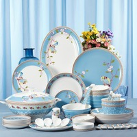 72pcs dinner set bone china tableware printing dinnerware sets