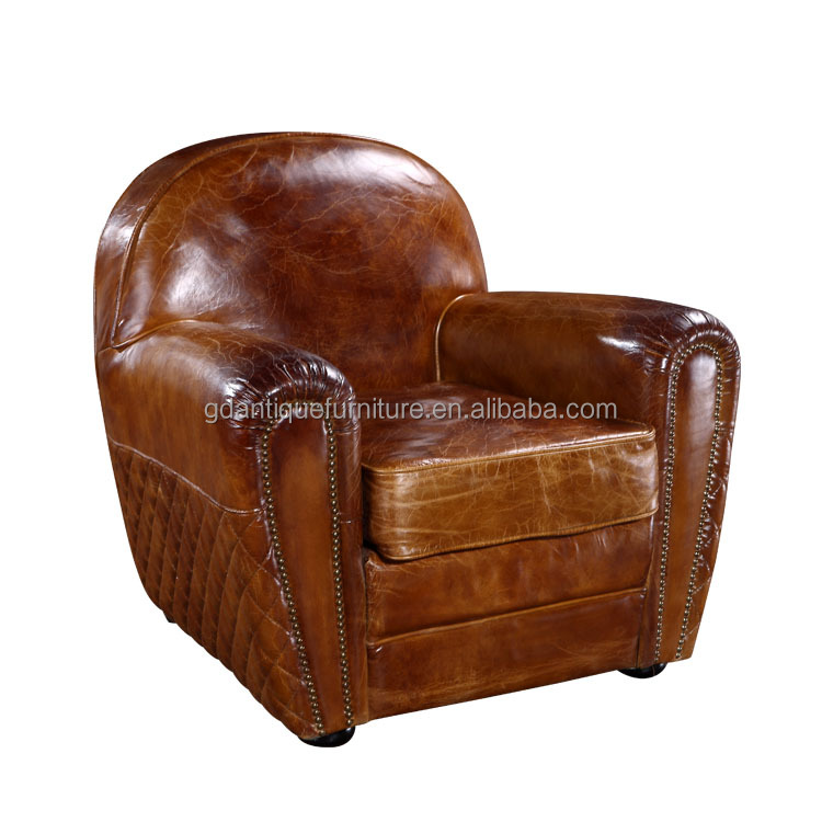 Paris Genuine Leather Club Chair