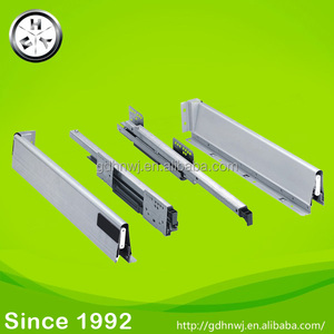 Soft closing kitchen damping drawer slide undermount metal drawer runner (DS8111)