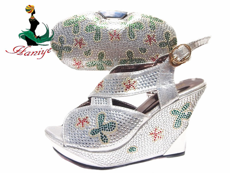 Sliver latest set and italian shoes shoes bag match in bags white 2017 OrARO