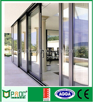 Chinese decorative aluminium exterior wood sliding doors with AS2047