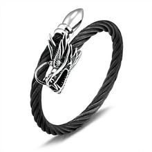 Marlary Fashion Accessories Adjustable Bangle Bracelet Wrap Dragon Head Cuff Bangle For Men