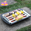 new design kids play food wooden toy barbecue W10D135