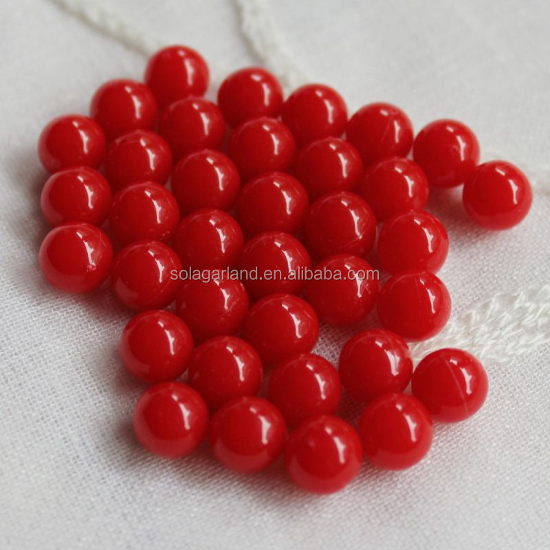Supply 8MM Acrylic Pastel Opaque Solid Color Round Plastic Spacer Beads no Hole Charm Loose Beads