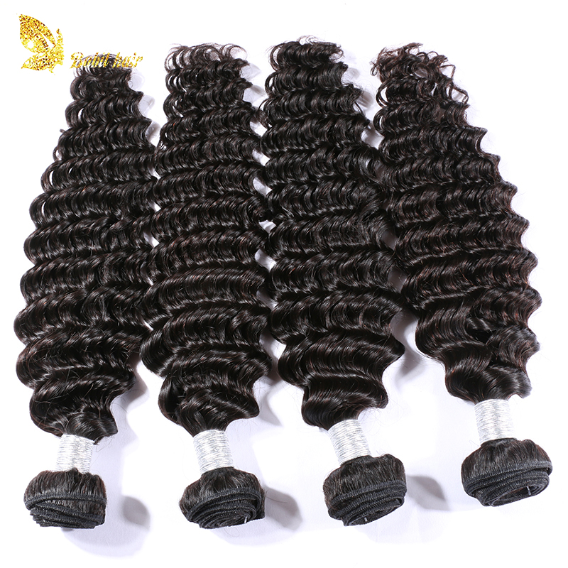 New style cuticle aligned deep wave virgin peruvian human hair weaving