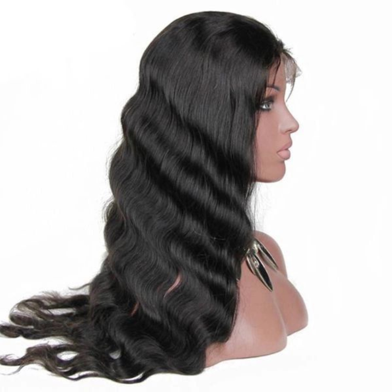 Raw top quality body wave wigs 100% natural indian human hair 10-24 inches 360 lace frontal wig with baby hair фото