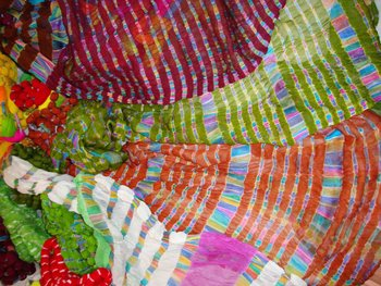 multi colour lahariyas in tia & dye fabric