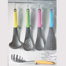 5Pcs Small Nylon Kitchen Cooking Utensil Tools Set Kit Include Slotted Spatula Spoon Ladle Pasta Scoop