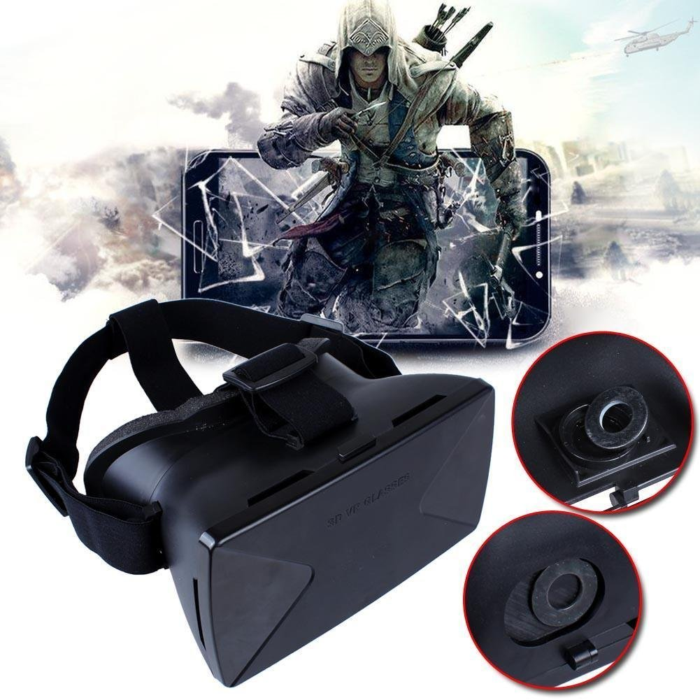 Sun YOBA Virtual Reality VR Headset 3D Plastic Video Glasses For iPhone 5s 6 Plus Samsung S6