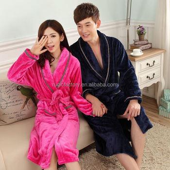 02179f9f70 Bulk Dressing Gown Plush Coral Fleece Bathrobe For Men And Women