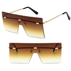DLL8587 Rimless Conjoined Big Oversize Oculos Sun Glasses Fashion Sunglasses