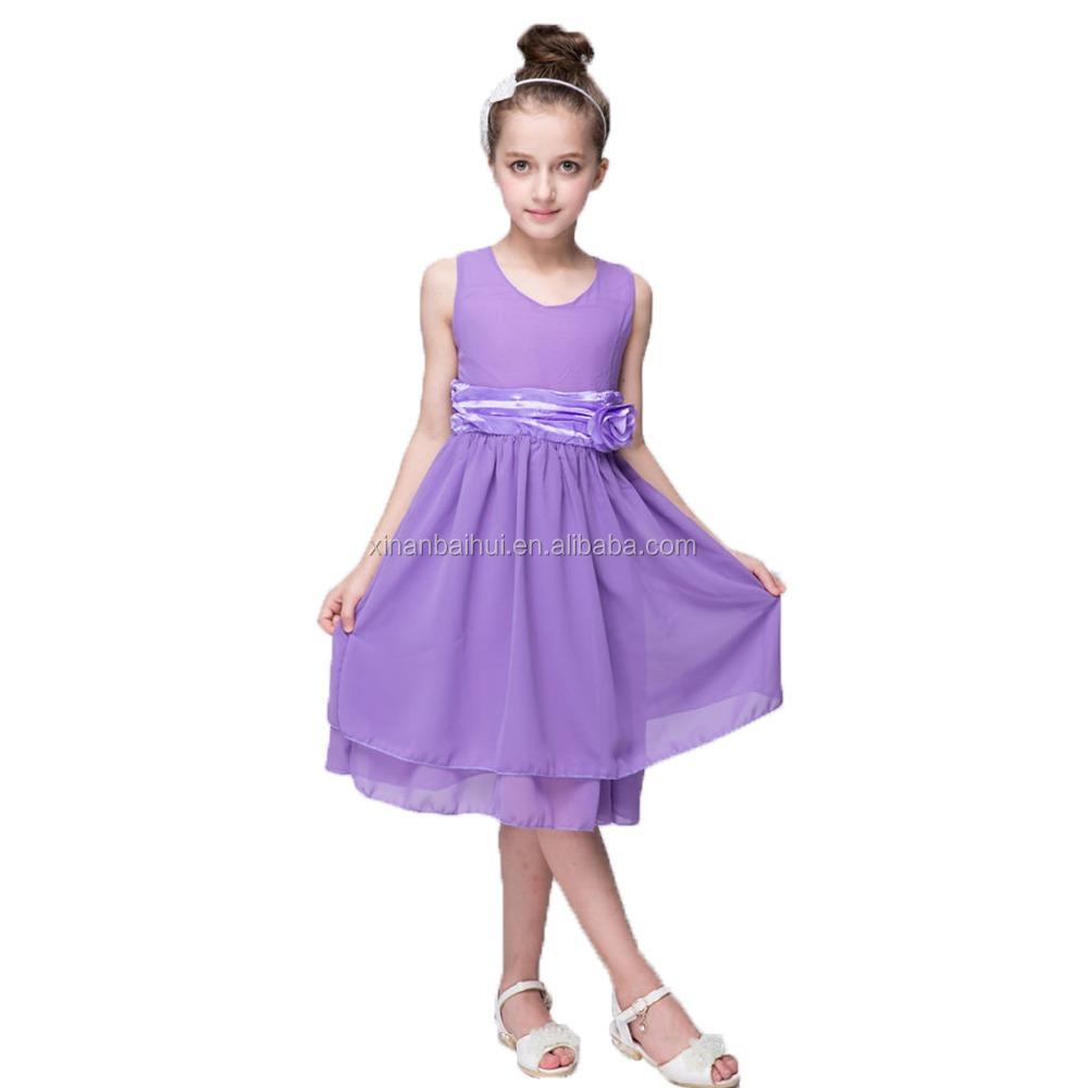 Purple gasa vestido encantador del bebé para 2 años cumpleaños ...