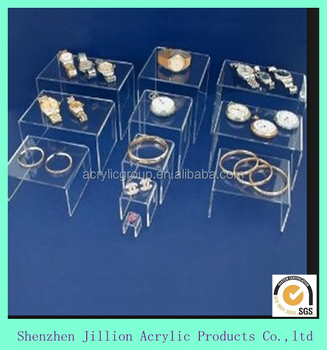 clear acrylic jewelry display risers