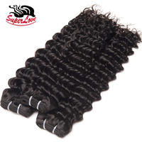 SuperLove Hair Double Drawn %100 cuticle aligned deep wave Curly hair 10A Raw Indian Virgin Human hair extensions Wholesale