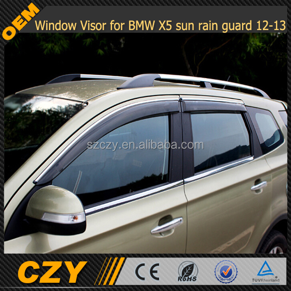 For BMW 5 GT F07 2013-2016 Window Visors Side Sun Rain Guard Vent Deflectors