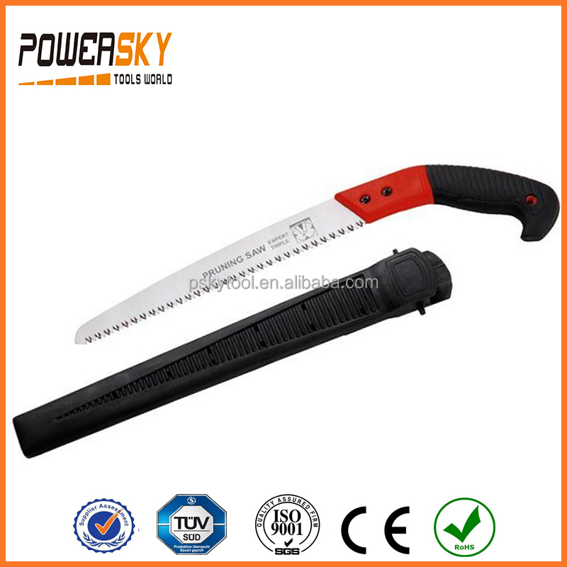 240mm 270mm 300mm 65Mn Pruning Saw with Plastic Sheath