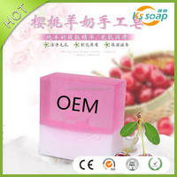 110g goats milk cherry essential oil whitening handmade soaps