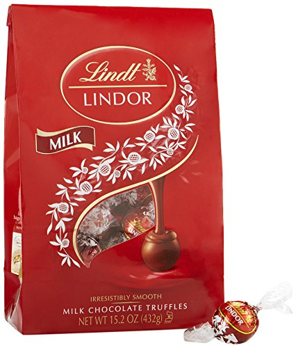 Lindt LINDOR Milk Chocolate Truffles, Kosher, 15.2 Ounce Bag