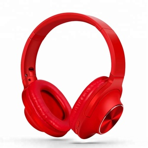 folding metal sports running headband stereo mic headset bt wireless bluetooth headphones