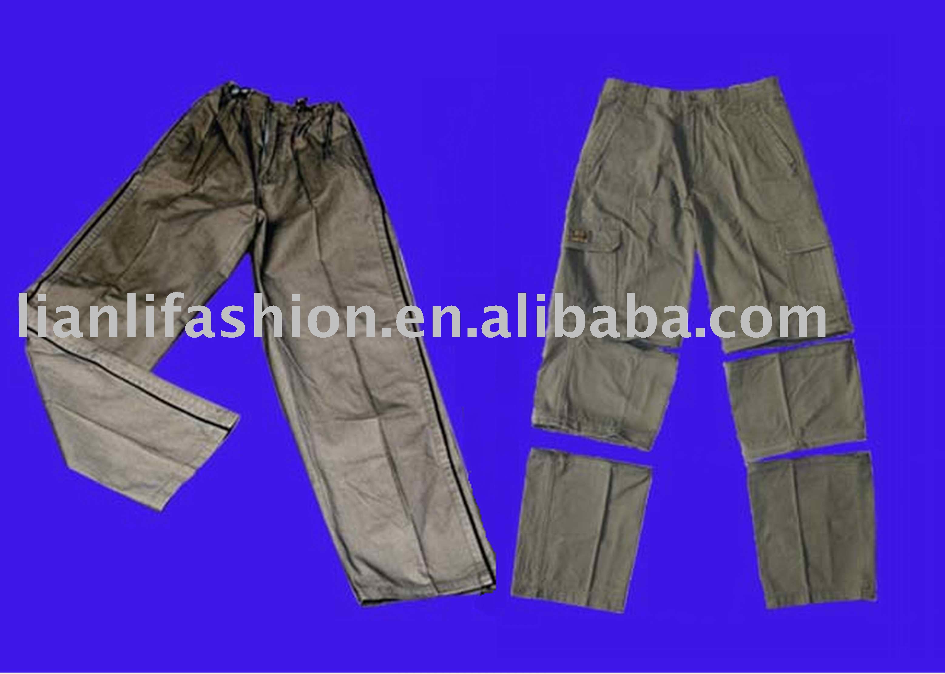 mens casual cotton baggy long trousers pants work clothing