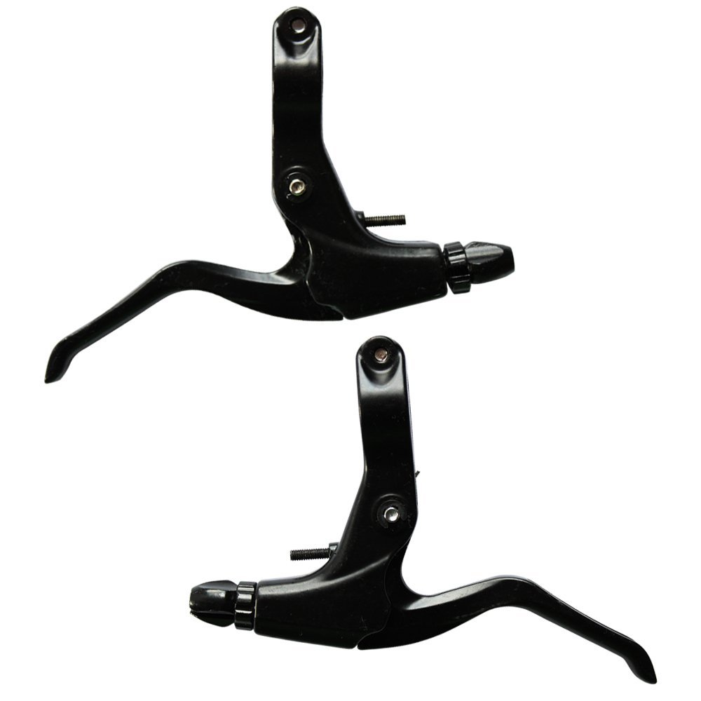 Forest Byke Company 1 Pair Universal Aluminum Alloy Bicycle Brake Handle Mountain Road Bike Brake Lever Set ( Left and Right) 2.2cm Diameter - Black