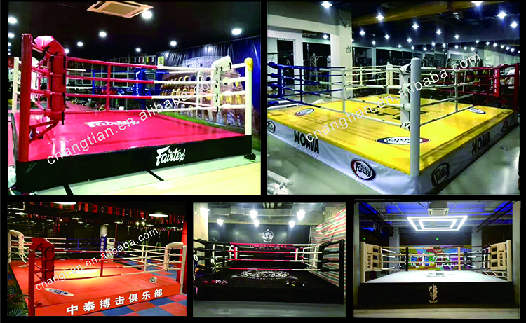 small size floor Muay Thai boxing ring used