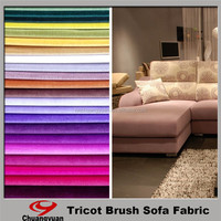 Chinese Manufacturer Textiles Polyester Brushed Furniture Velvet Fabric For Wholesales