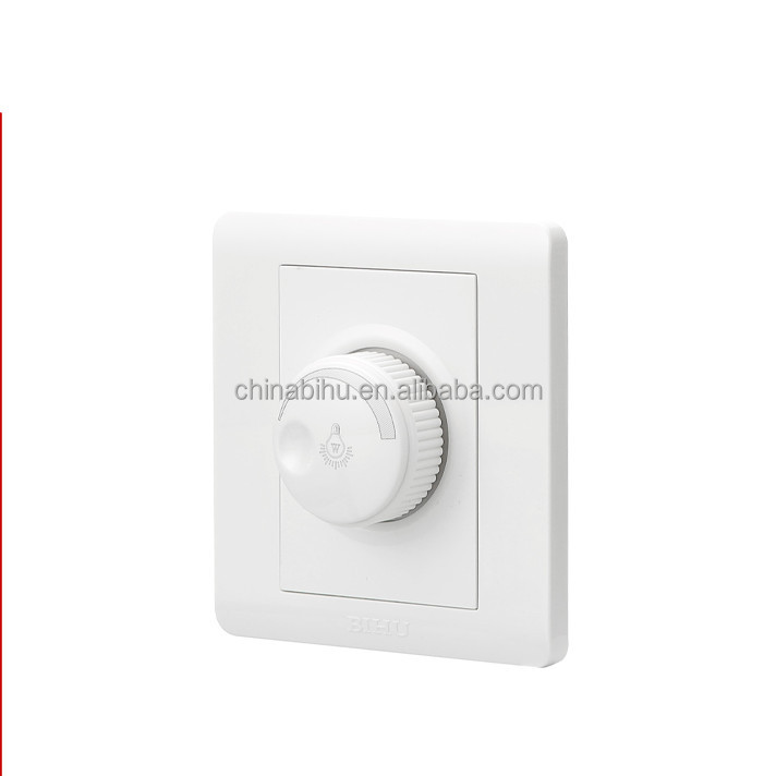 factory price BIHU White fire resistance PC led waterproof dimmer switch for home