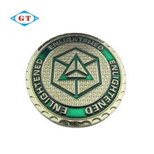 Wholesale zinc alloy engraved silver challenge coin custom cheap coin