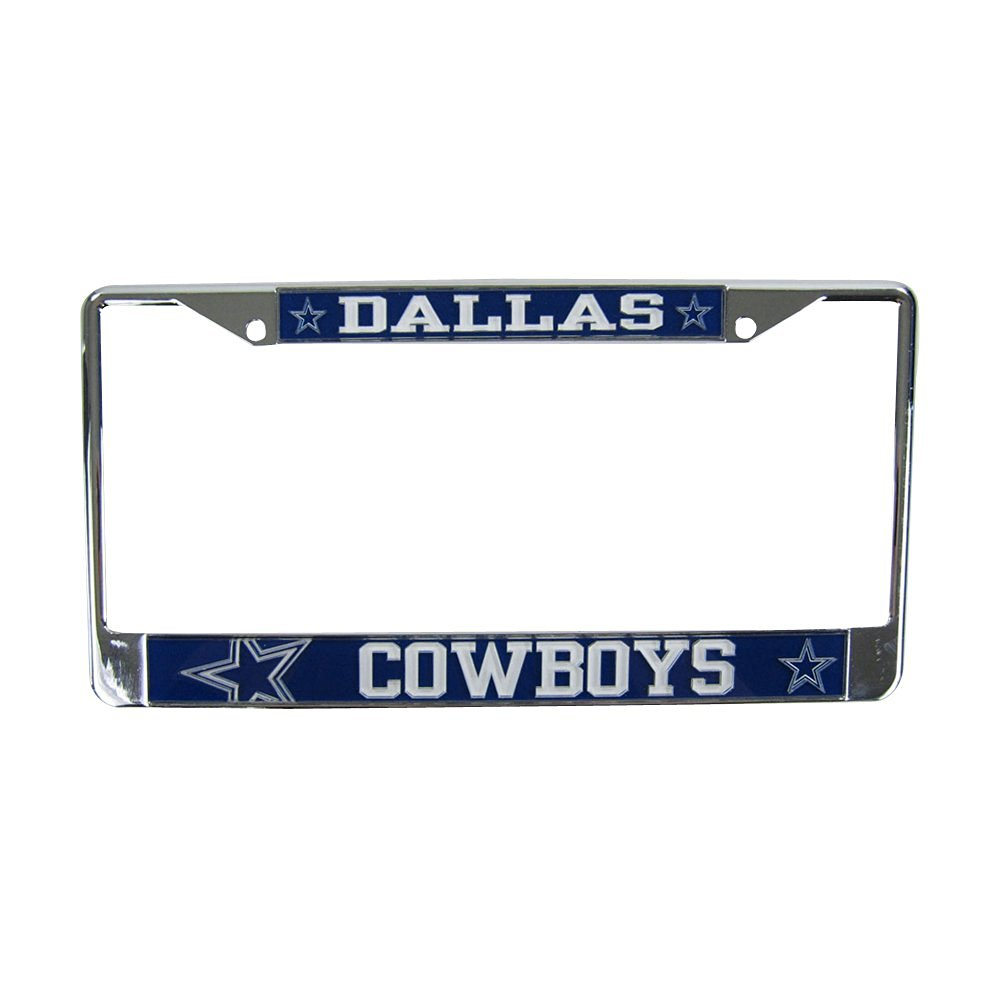 New Ture 100% Guarantee Learned Dallas Cowboys Embossed Chrome License Plate Frame #2 Football-nfl