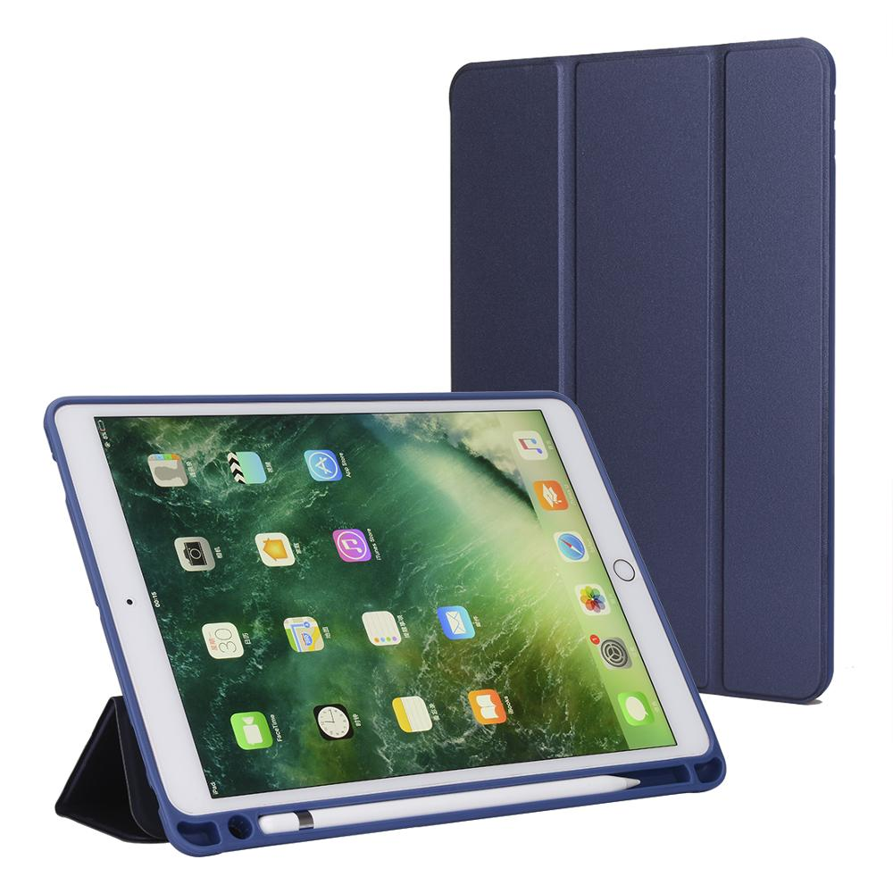 wholesale high quality mini air 2 3 4 blue keyboard 9.7 12.9 pu notebook flat tablet leather case for <strong>ipad</strong>